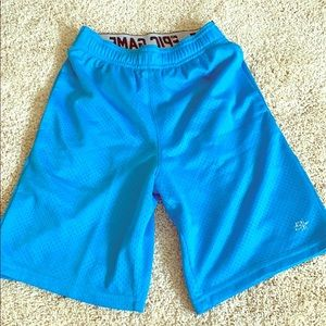 Boys blue gym shorts